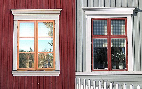 Färgsättning av fönster Hålla hus
